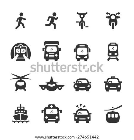 transportation icon set 3, vector eps10. - stock vector