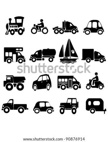 Transportation Icons - stock vector