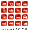 Transportation icons buttons vector set 4 - stock vector