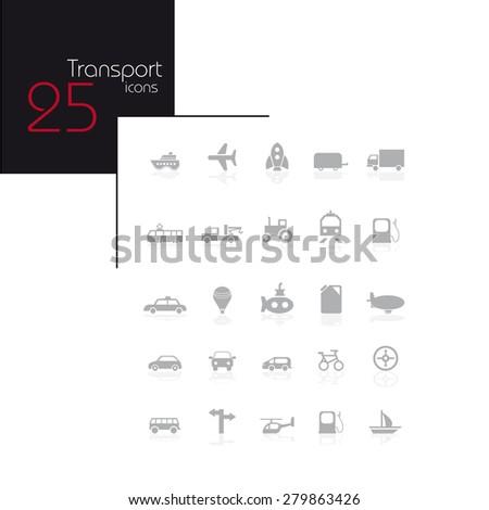 Transportation icons set. - stock vector