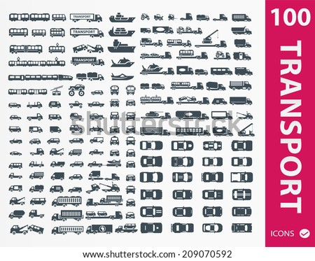 Transportation icons ( set of 100 icon ) - stock vector