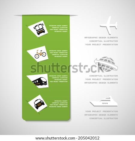 Transportation infographic design elements - stock vector