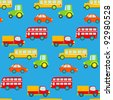 Transportation Seamless Pattern - stock vector