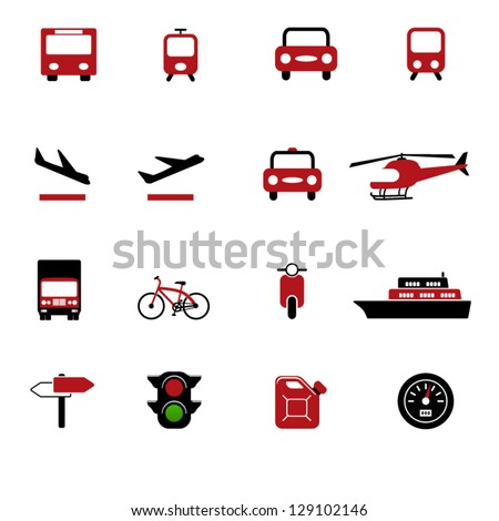 Transportation set of icons - stock vector