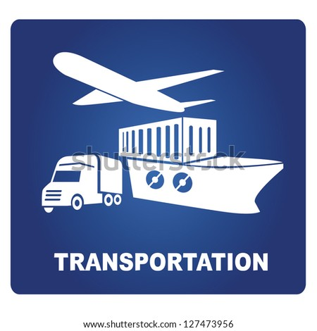 transportation sign, vector - stock vector