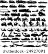 transportation silhouettes collection - vector - stock