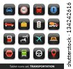 Transportation. Tablet buttons collection isolated on white - stock vector
