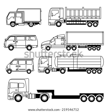 Transportation Vehicle Collection - stock vector