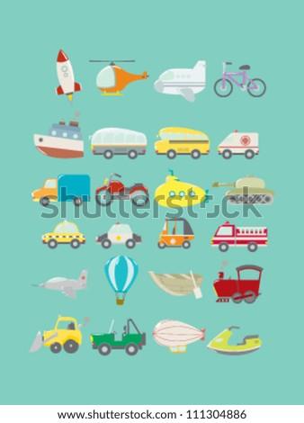Transportations Vector Pack - stock vector