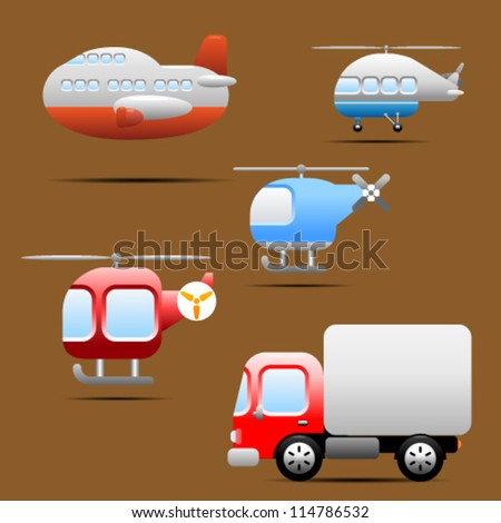 Transports / Vehicles icons - stock vector