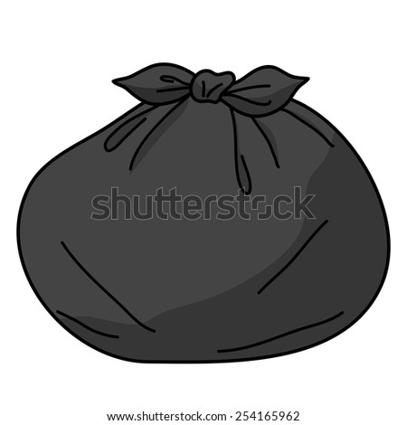 trash bags isolated illustration on white background - stock vector