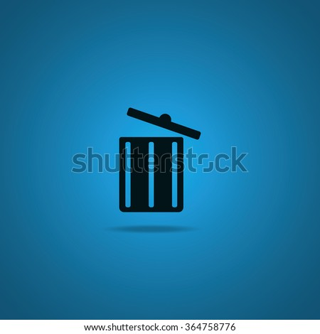 Trash bin icon. - stock vector