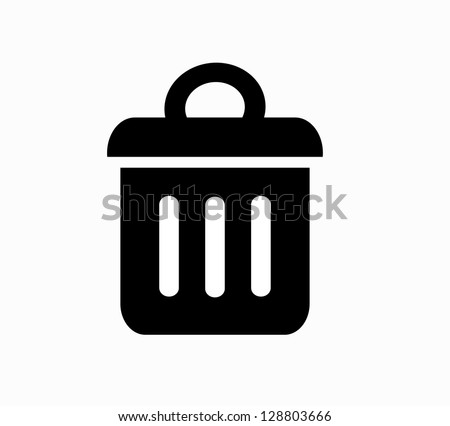 Trash bin icon vector - stock vector