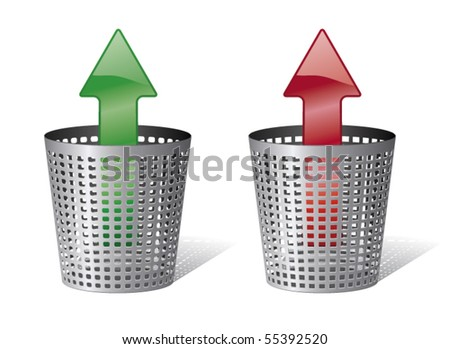 Trash bin or trash can - stock vector