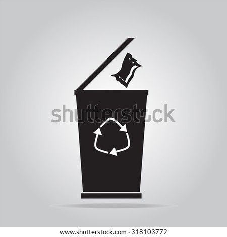 Trash bin symbol vector illustration
