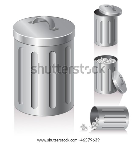 trash can - stock vector