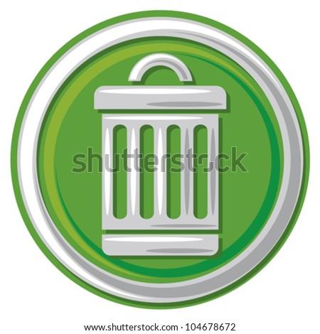 trash can icon (trash, trashcan button, trash can symbol) - stock vector