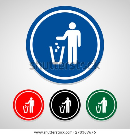 trash icon great for any use. Vector EPS10. - stock vector