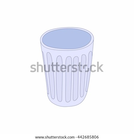 Trash icon in cartoon style isolated on white background. Garbage and cleaning symbol