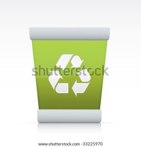 Trash Recycling. Vector in Adobe Illustrator EPS for multiple applications.