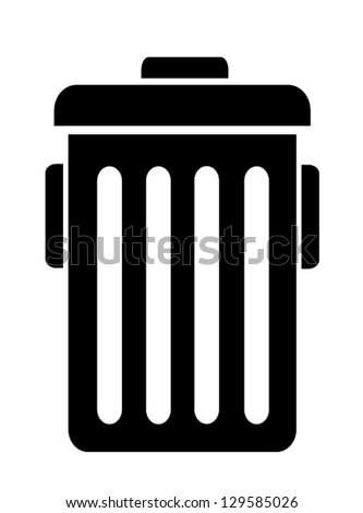 Trash symbol vector - stock vector