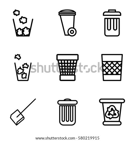 trash vector icons set 9 trash stock vector 580219915