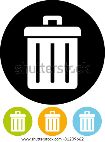 Trashcan (Vector) - stock vector