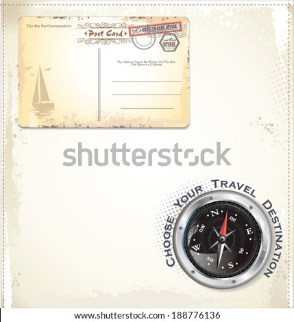Travel abstract background - stock vector
