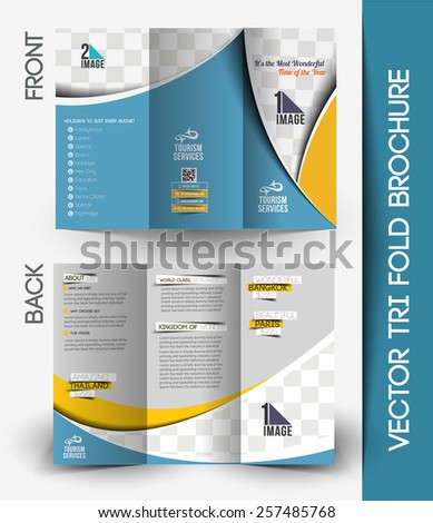 Travel Agencies Tri Fold Mock Up Brochure Design