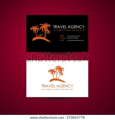 Travel agency business card template travel stock vector royalty travel agency business card template travel agency logo design idea colourmoves