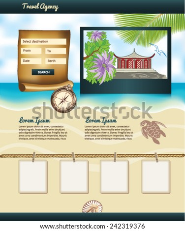 Travel Agency Template - stock vector