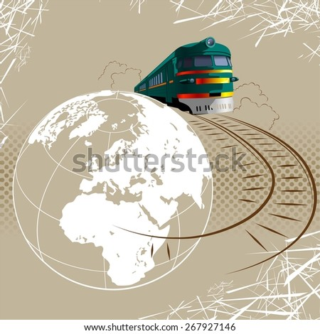 Travel and tourism concept - stock vector
