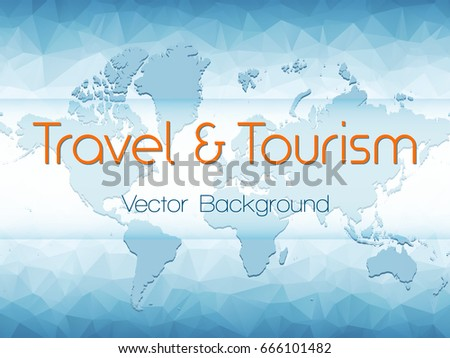 Travel tourism vector background world map stock vector 666101482 travel and tourism vector background with world map on white and blue polygonal pattern banner gumiabroncs Choice Image