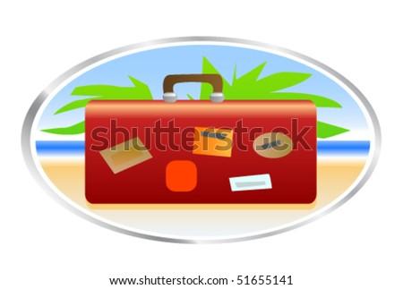 Travel bag - stock vector