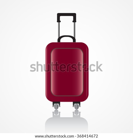 Travel bag, luggage - stock vector