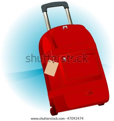 Travel bag. Vector. - stock vector