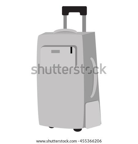 Travel bag vector illustration. Travel bag symbol. Travel bag. Travel bag for traveling. Travel bag vector. Summer time, vacation, travel - stock vector