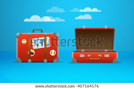 Travel bag vector illustration. Vacation design template - stock vector