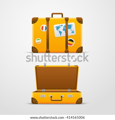 Travel bag vector illustration, Vacation design template - stock vector