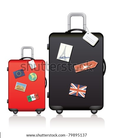 Travel bags - stock vector