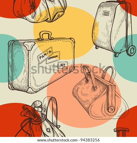 Travel bags seamless pattern
