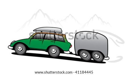 Travel car with trailer
