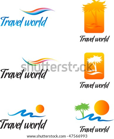 Travel design elements - stock vector