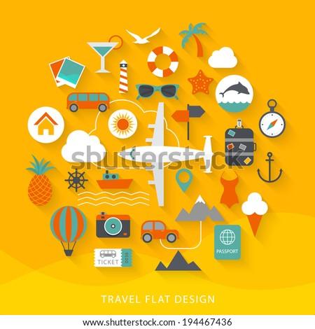 Travel flat design illustration - stock vector