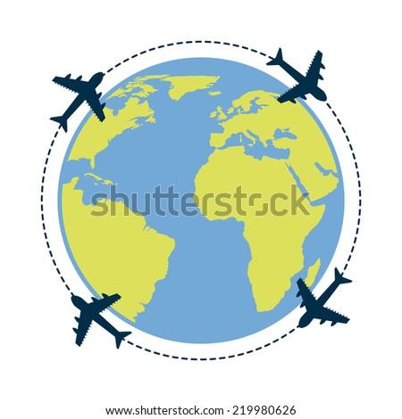travel graphic design , vector illustration - stock vector