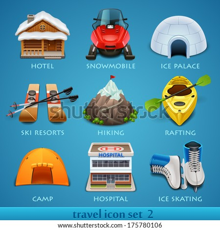 Travel icon set-2 - stock vector