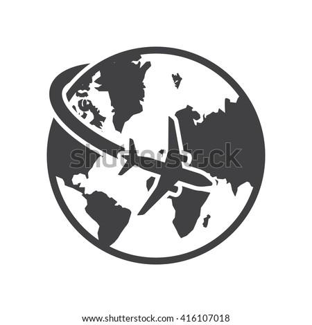 Travel Icon Vector Illustration On White Stock Vector ...