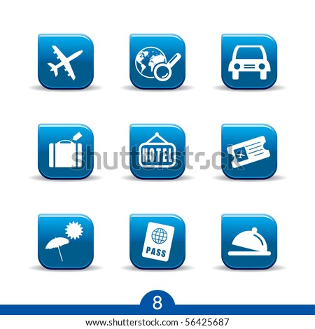 travel icons no.8..smooth series - stock vector