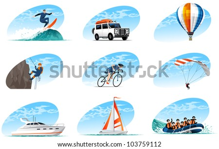 travel icons set (#4) - stock vector