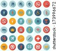 Travel Icons Set - Tourism Infographics - flat design vector EPS10 - stock vector